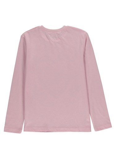 Morhipo Kids Uzun Kol  Baskılı T-shirt Pembe